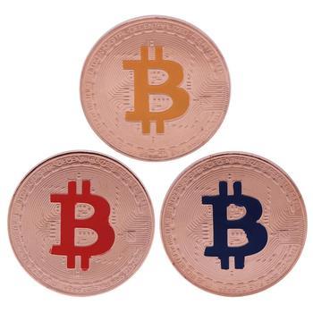 1 sztuk kreatywny pamiątka pozłacane Bitcoin moneta kolekcjonerska wielki prezent Bit moneta kolekcja sztuki fizyczna złota pamiątkowa moneta tanie i dobre opinie CN (pochodzenie) Metal Europejska Carved 2000-Present Litery