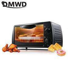 Dmwd mini forno elétrico de 2 camadas 9l, 220v doméstico, para pizza, forno, ferramentas para bolos, asas de galinha, temperatura temporizador de controle