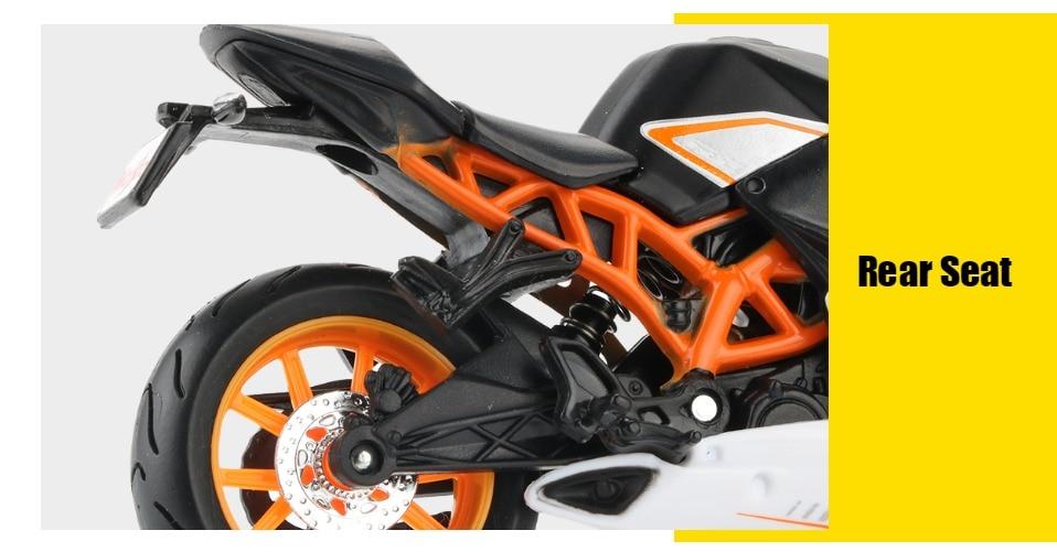 Toy KTM RC 390 Motorbike 11x3x6 cm 48