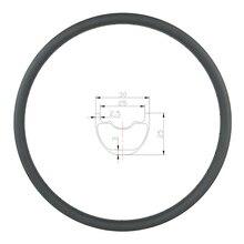 330g 26er MTB XC 30mm klammer tubeless carbon felge 25mm tiefe 24 28 32 Löcher UD 3K 12K matte glänzend mountainbike disc rad