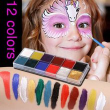 Pigment Cosmetic-Supplies Paint 12-Colors for Beauty-Kit Makeup X6HB Face-Body Professional