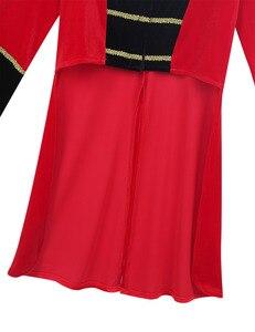 Image 5 - 4 8 yaş çocuklar erkek çocuk sirk Ringmaster kostüm standı yaka saçaklı altın süslemeler Tailcoat ceket cadılar bayramı Cosplay için