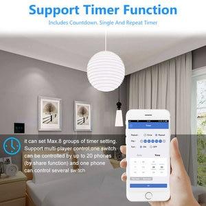 Image 5 - Przełącznik dotykowy inteligentna żarówka Wifi przełącznik Panel ścienny przerywacz 1/2/3 Gang wifi inteligentny przełącznik Standard ue praca z Alexa Google Home
