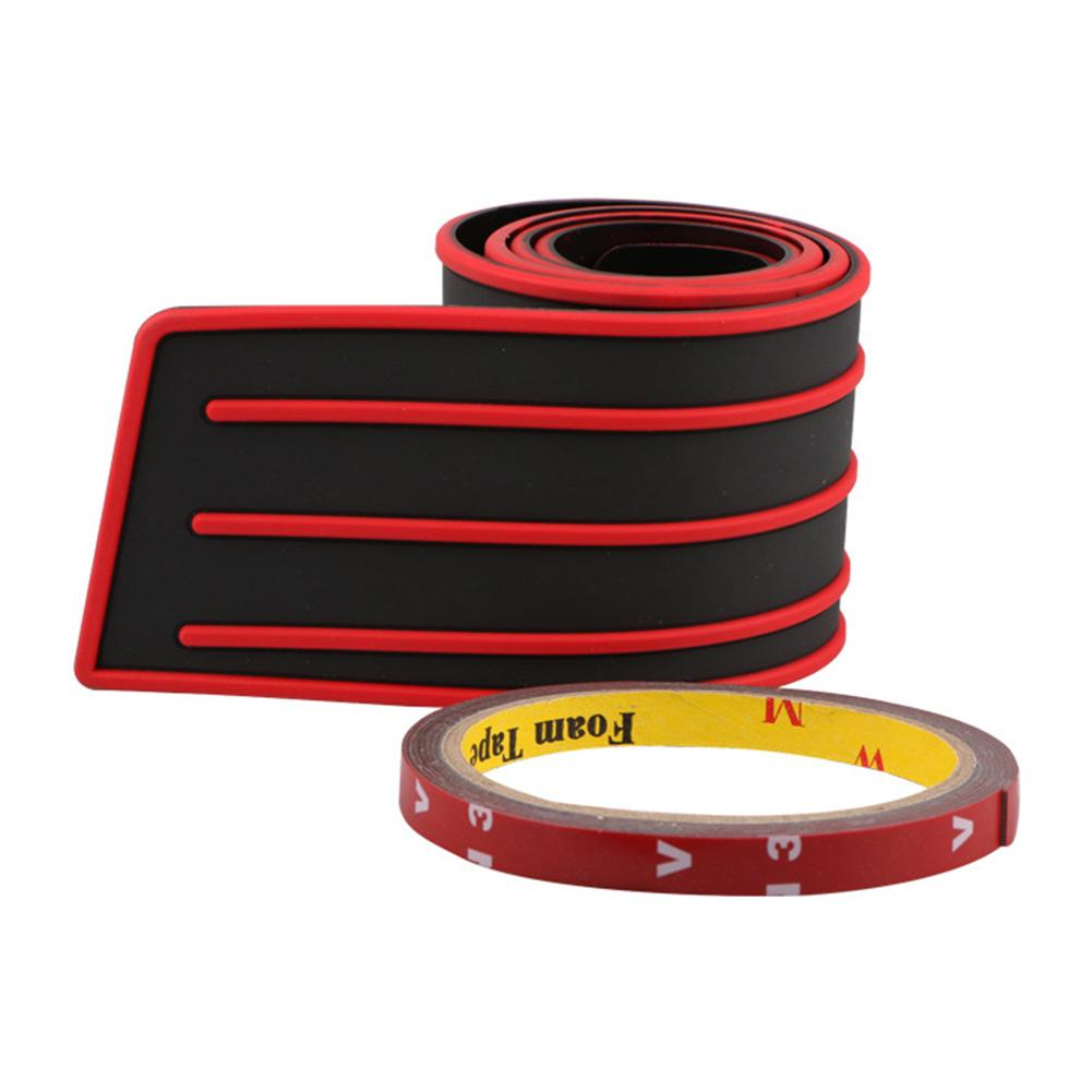 Резиновый защитный чехол для заднего бампера, защита от старения, нетоксичный для защиты от царапин, аксессуары для двери багажника