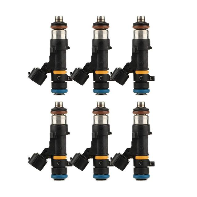 Set Of 6 Fuel Injector Nozzles For 2004 - 2011 Nissan Altima Murano Quest 3.5L V6 166007Y00A 166007Y000 M958