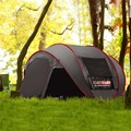 New Style Pop Up Ultralarge 4~5 Person Fully Automatic Speed Open With Mosquito Net Outdoor Camping Beach Tent Sun Shelter|automatic tent|beach tent|tent outdoor -