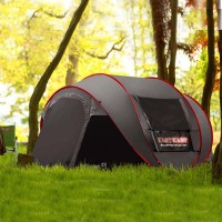 New Style Pop Up Ultralarge 4~5 Person Fully Automatic Speed Open With Mosquito Net Outdoor Camping Beach Tent Sun Shelter
