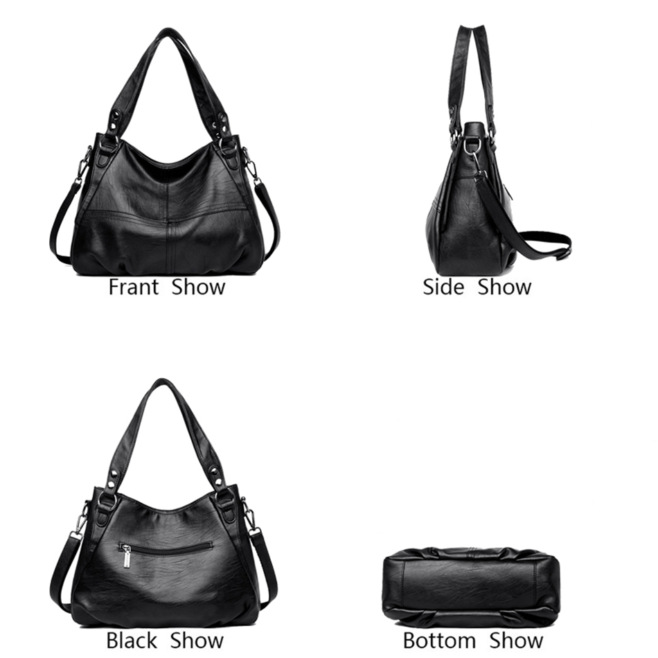 2019 Sheepskin Leather Luxury Handbags Women Bags Designer Ladies Hand Crossbody Bags for Women Tote Shoulder Bag for Girls Sac in Top Handle Bags from Luggage Bags