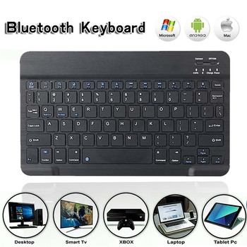 Generic Wireless Bluetooth Keyboard Rechargeable Portable Suitable for Laptop Desktop PC Tablet with Number Pad Full Size Design 1