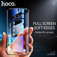 HOCO Beste für Apple iPhone X XS Max XR Voll HD Gehärtetem Glas Film Screen Protector Schutz 3D Volle Abdeckung bildschirm Schutz