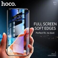 HOCO Protector de pantalla para iPhone X, XS, Max, XR, Full HD, película de vidrio templado, 3D