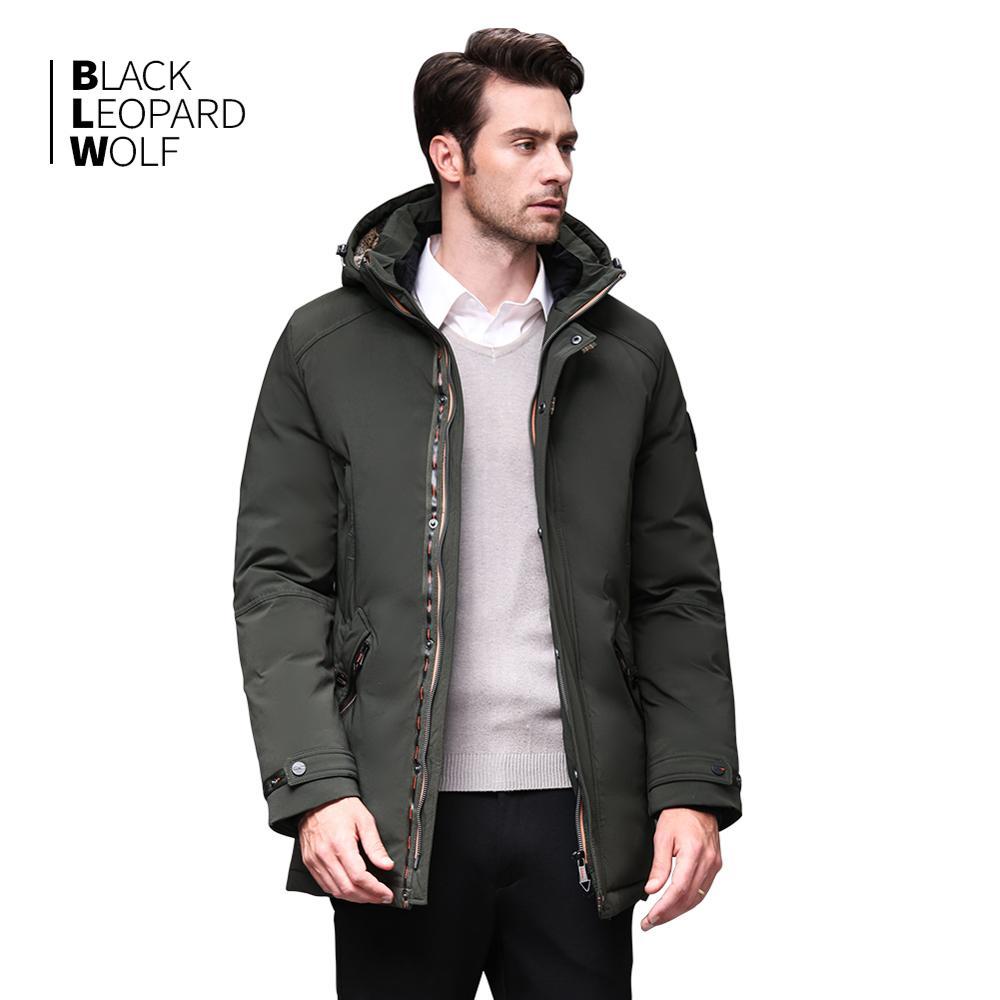 Blackleopardwolf 2019  Men's Clothes Winter Detachable Fur Winter Coat Men Down Jacket Men's Jackets And Coats BL-989
