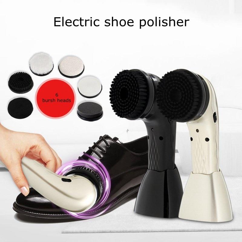 Cireuse À Chaussures électrique Portatif de Ménage D'entretien Cuir Nettoyage Pieds Exfoliant Brosse Rotative Tête USB Cireuse À Chaussures Électrique