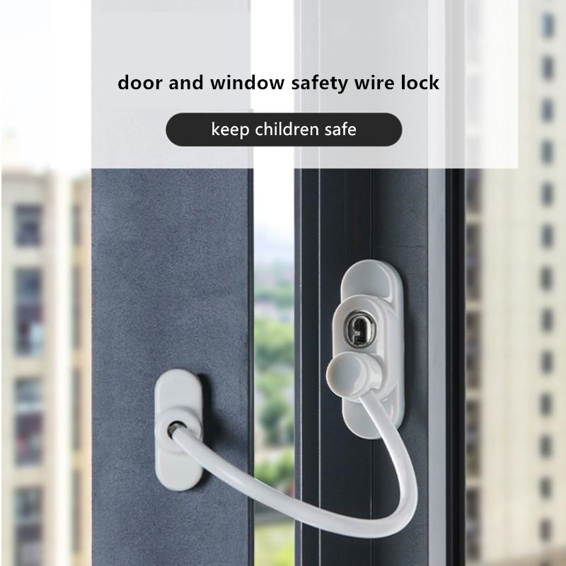 Door Limit Lock Window Lock Door Security Window Cable Lock Restrictor Guard For Baby Safety Window Security Chain Lock