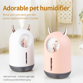 Nowe słodkie zwierzątko nawilżacz Mini gospodarstwa domowego małe nawilżające aromaterapia kreatywność samochodu nawilżacz powietrza niedźwiedź USB tanie i dobre opinie Neutral