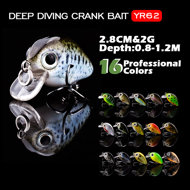 2.8cm Mini Crankbait Fishing Lure 1.5g Realist Fake Fish Floating Fishing Lures Wobbler Tackle Pesca 15 Color