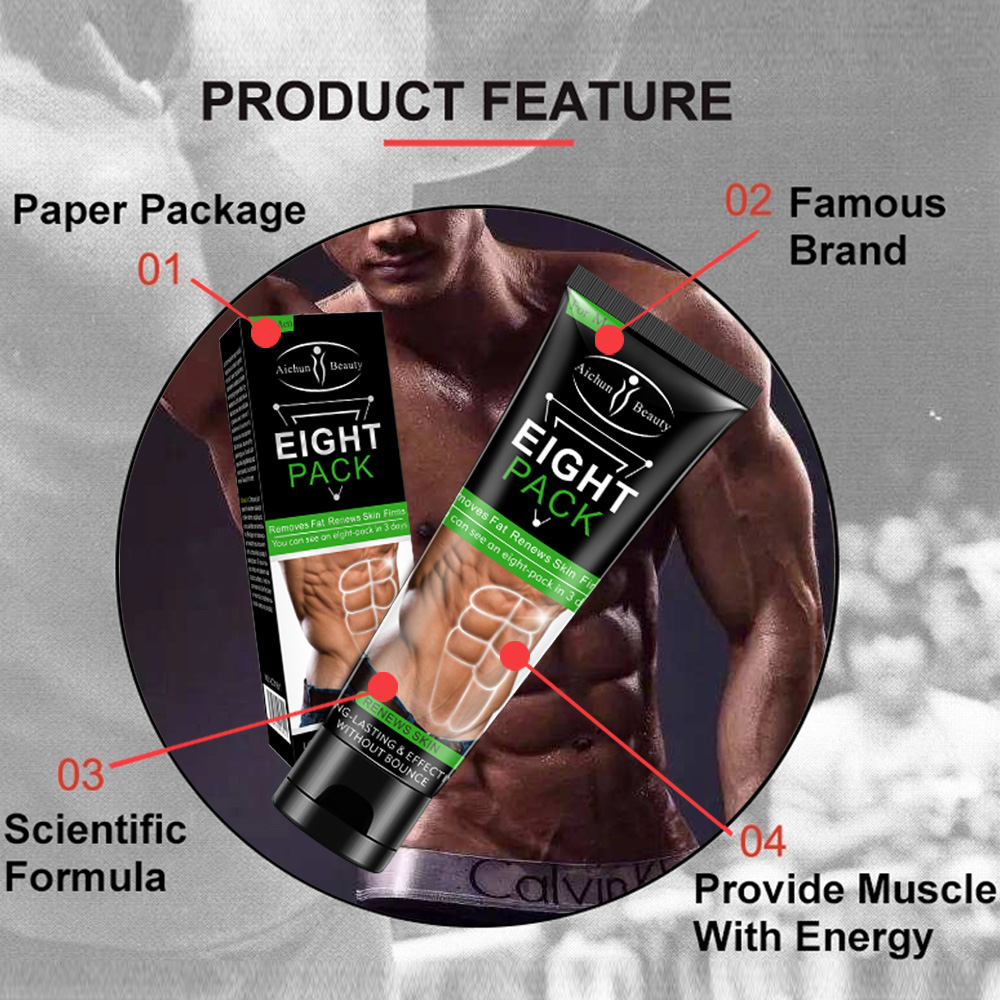 Abdominal Muscle Cream Anti Cellulite Fat Burning Weight Loss Slimming Gel Fitness Powerful Cream Strengthening Muscle TSLM1