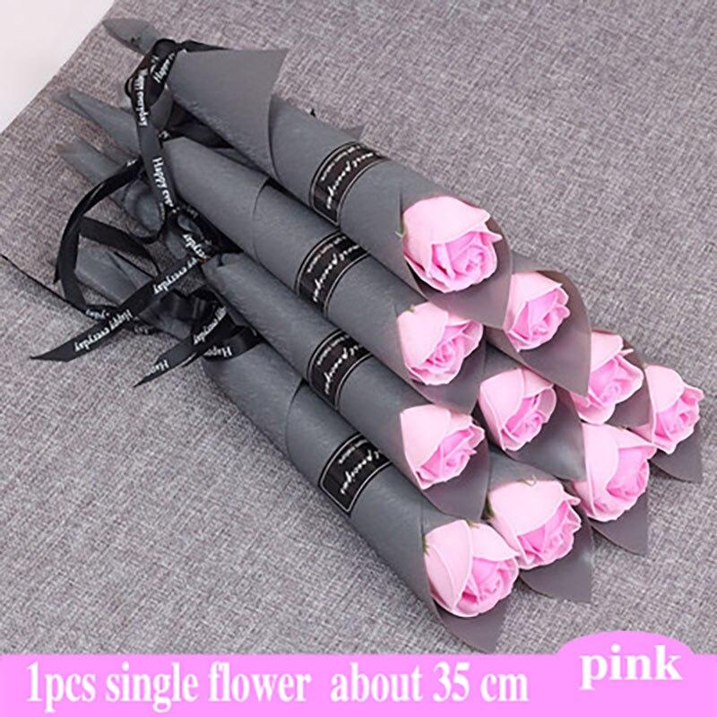 Один Букет консервированных цветов, цветок бесмерной розы, длина 25 см, подарок на день матери, вечная жизнь, цветок, праздничный декор, Вечны...