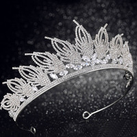 New Fashion Luxury Gold Silver Crystal Tiara and Crowns Princess Diadem Bridal Bride Wedding Party Veil Hair Jewelry Accessories