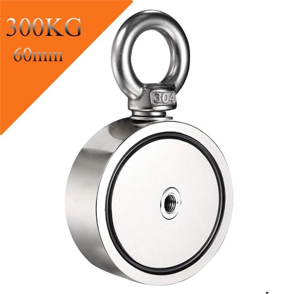 200/300/500KG Double Side Neodymium Metal Magnet Detector Fishing Kit+20M Rope Neodymium Magnet Magnet Fishing 2020 #R25