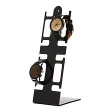 Portable Watch Storage Box Case Jewelry Display Stand 2-holder Rack Showcase Shelf Plastic Stand