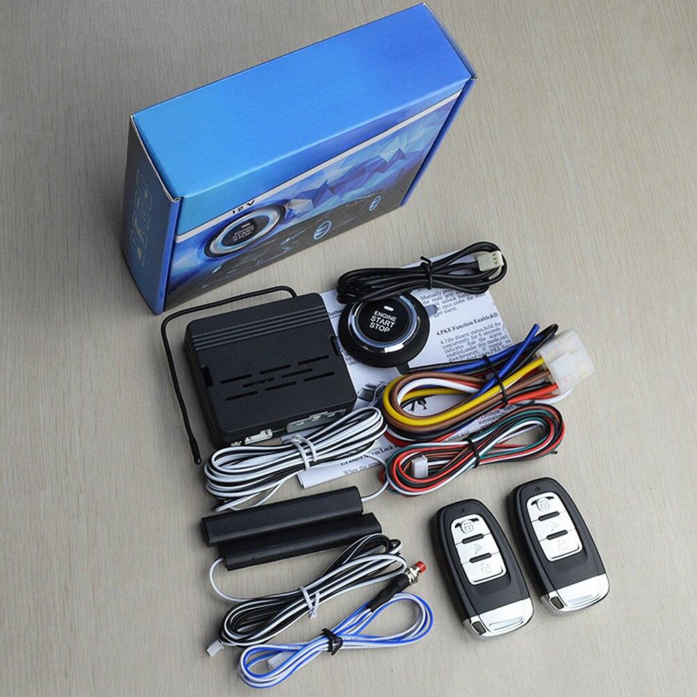 Système d'alarme de démarrage de moteur à distance sans clé de voiture bouton poussoir universel bouton d'arrêt de démarrage d'alarme sans clé de voiture - 6