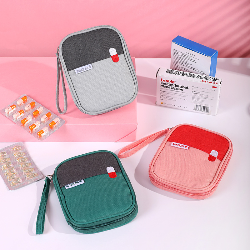 Portable First Aid Medical Kit Travel Outdoor Camping Mini Medicine Storage Bag Camping Emergency Survival Bag Pill Case