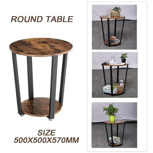 DouxlRound Coffee Sofa Side Table 5