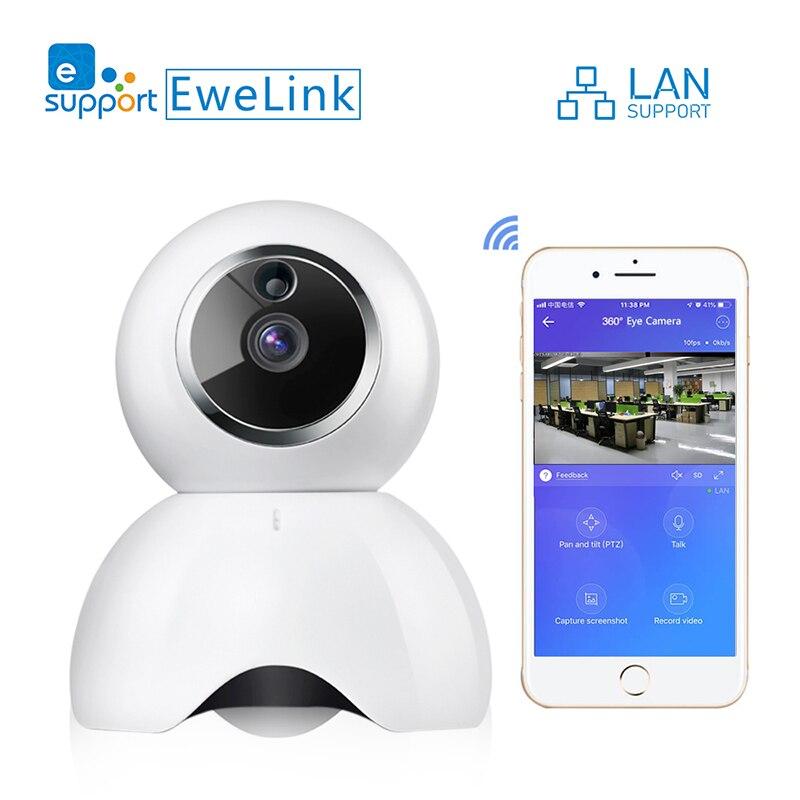 EWeLink caméra IP intelligente IOT HD caméra reomotely visualisation par téléphone portable deux voies audio réseau LAN moniteur domestique
