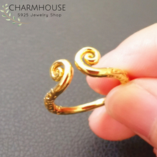 Charmhouse Wedding Rings For Women Pure Yellow Gold Color GP Monkey King Ring Free Size Bague Anel Vintage Engagement Jewelry