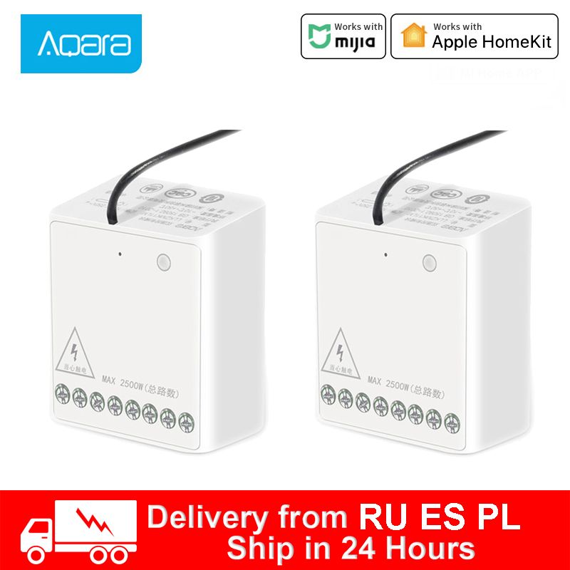 Aqara two-way Control relay Module Wireless Relay Switch Controller Smart Timer 2 Channels Work For Mihome APP