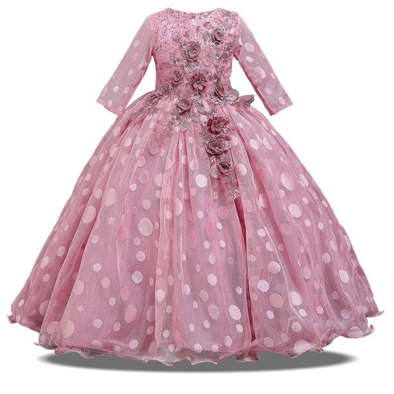 2020 Summer Long Sleeve Flower Girl Dress Elegant Kids Dresses For Girls Party And Wedding Clothing Princess Dress 10 12 Years Leather Bag,Macy Dresses For Wedding