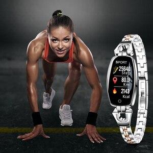 Image 2 - Женские умные часы LEMFO, водонепроницаемые часы с пульсометром, пульсометром, камерой и пультом дистанционного управления, подарочные Смарт часы для девочек