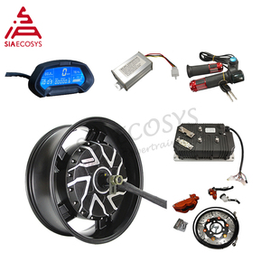 Most Powerful QS Motor 12000W 12KW 17 x 6.0 inch In Wheel Hub Motor with Kelly QSKLS72601 controller for Electric Motorcycle