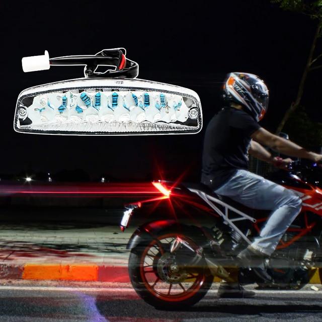 Luces LED de freno traseras universales, luz trasera de señal de giro para motocicleta Yamaha Suzuki Honda ATV Quad Kart, 1 Uds.