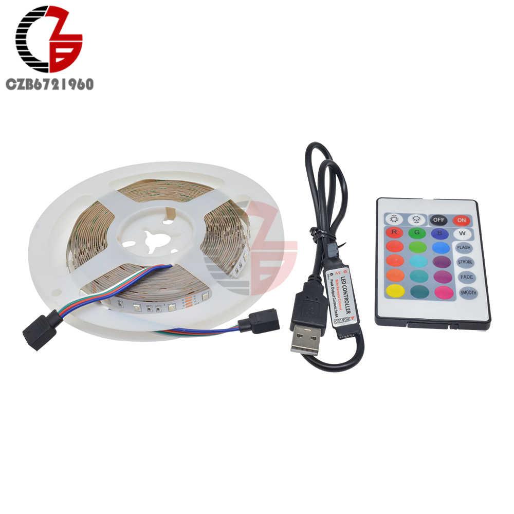 Usb'li şerit LED lamba 2835 SMD DC 5V esnek LED ışık bant şerit 0.5M 1M 2M 3M 5M M HDTV TV masaüstü ekran arka önyargı aydınlatma