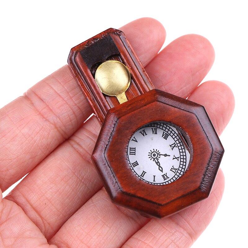 1 шт. кукольный домик Миниатюрный деревянный винтажные красные часы игрушка для домашнего декора 1/12 масштаб ролевые игры мебель игрушка