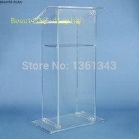 Klar acryl podium/Custom. Acryl podium Acryl Rednerpult/Plexiglas Kanzel. acryl podium plexiglas-in Empfangstresen aus Möbel bei