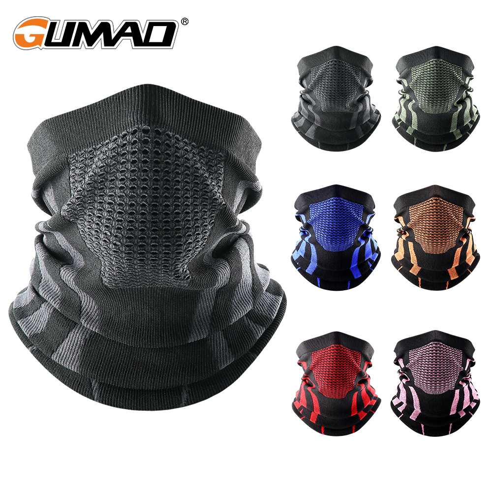 Thermal Face Bandana Mask Cover Neck Warmer Gaiter Bicycle Cycling Ski Tube Scarf Hiking Breathable Masks Print Women Men Winter