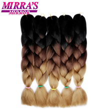 Mirra's Mirror 5Pcs 3 Tone Ombre Jumbo Braids Hair For Braid