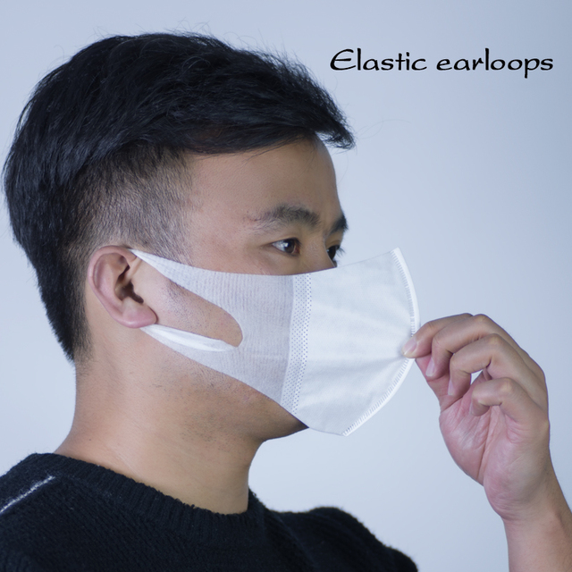 In Stock 50pcs Disposable Masks For Adult PM2.5 Filter Face Mask Mouth Cover Anti Dust Respirator Flu Protect Fast Shipping 2