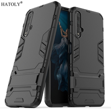 For Huawei Nova 5T Case Silicon Rubber Robot Armor Shell Hard PC Back Phone Cover for Protective