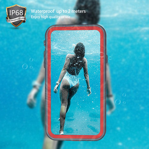 Image 2 - SHELLBOX مقاوم للماء الحال بالنسبة آيفون 11 X XR XS ماكس للصدمات السباحة سيليكون Coque غطاء آيفون 7 8 Plus تحت الماء