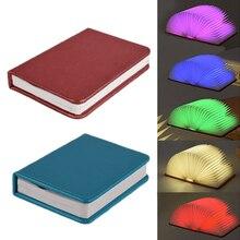 LED Folding Lamp Turning Book Shape night light USB Recharge