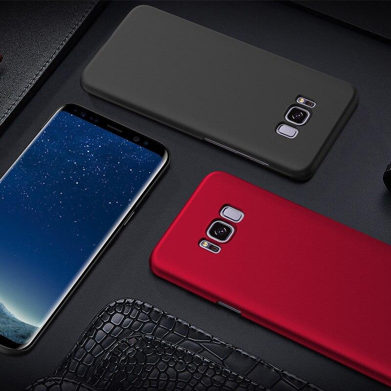 Samsung Galaxy S8 Fosco Sərt PC Tutqun örtüklü dəri qabığı - Cib telefonu aksesuarları və hissələri - Fotoqrafiya 6