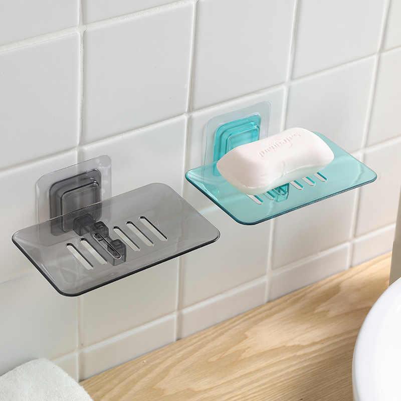 Łazienka prysznic mydelniczka pojemnik na naczynia do przechowywania płyta tacka przezroczysty futerał mydelniczka do sprzątania organizatorzy pojemników
