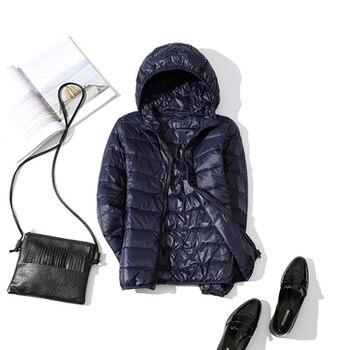 New Brand 90% White Duck Down Jacket Women Autumn Winter Warm Coat Lady Ultralight Duck Down Jacket Female Windproof Parka 24