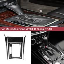 цена на 5pcs/Set Carbon Fiber Auto Central Control Panel Decal Car Stickers for Mercedes Benz W204 Accessories C Class 2007-2013