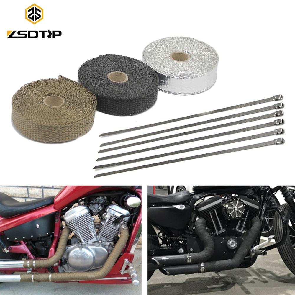 1 Metre Red Heat Wrap Exhaust Downpipe Manifold Resistant Motorbike Kit Car
