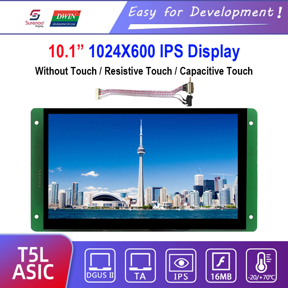 Dwin T5L HMI Intelligent Display, DMG10600C101_03W 10.1